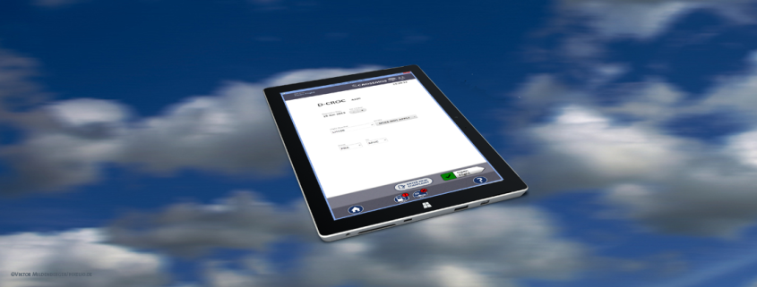 Open Flight Screen on a tablet