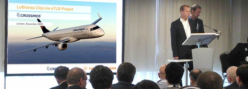 Gerrit Jassnowski (Lufthansa CityLine) and Udo Stapf (CrossConsense) presenting the introduction of CROSSMOS ELB at Lufthansa CityLine.