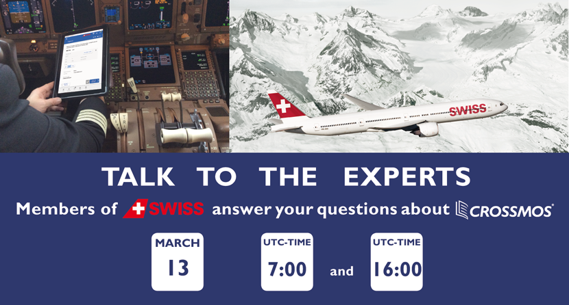 Talk to the experts - Telephone conference SWISS on CROSSMOS